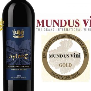 AplauZ Premium Reserve Cabernet Sauvignon 2013 received a Gold Medal at Mundus Vini Grand Internationl Wine Award 2016 in Dusseldorf, Germany.