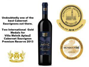 Two Gold Medals for Aplauz Premium - CMB and Mundus Vini