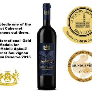 Two Gold Medals for Aplauz Premium - CMB and Mundus Vini