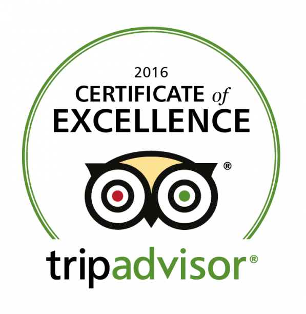 VILLA MELNIK earns 2016 Certificate of Excellence