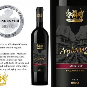 AplauZ Merlot 2013 Silver Medal MUNDUS VINI 2017 - ENG