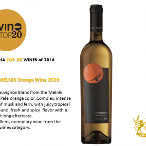 Villa Melnik Orange Wine 2016 from Sauvignon Blanc ranks in Top 20  Bulgarian Wines according to DiVino