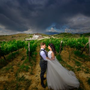 Wedding photoshoot at Villa Melnik Winery