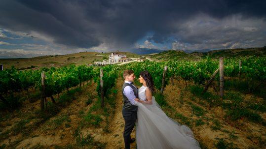 Wedding photoshoot at Villa Melnik Winery