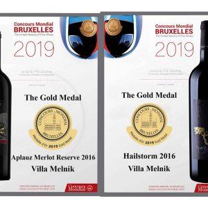 Gold Medals Villa Melnik Hailstorm Aplauz Merlot